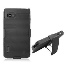 Sprint LG Optimus F3 LS720 COMBO Belt Clip Holster Case Phone Cover Kick Stand