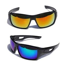 New Men Sport Shielded Wrap Around Mirror Sunglasses CPS21 Multi Color Selection