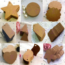 100pcs Brown Blank Kraft Paper Marked Blank Card Hand Draw Tags Labeled Card