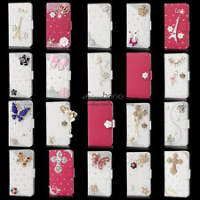 Bling Diamond Wallet PU Leather Case For Samsung Galaxy S2 II i727 SkyRocket ATT
