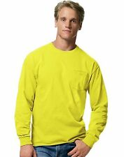 Hanes Men's TAGLESS Long-Sleeve T-Shirt with Pocket - style 5596