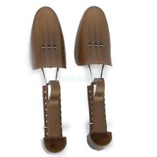 Pair Plastic Adjustable Shoe Tree Stretcher Expander Shaper Keeper Support Brown