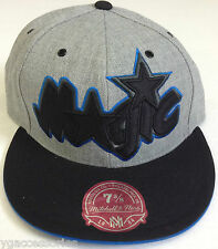 NBA Orlando Magic Mitchell and Ness XL Logo Fitted Cap Hat M&N NEW!