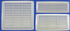 Air Vent Louvred White Grill Fly Screen Cover Ventilation Grille 9x3 9x6 9x9