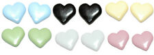 "1/2"" HEART STUD EARRINGS ~ 6 COLORS ~ U PICK"