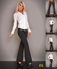 7504 New Casual Business Bootcut Mid Waisted Trousers For Women Online Shop