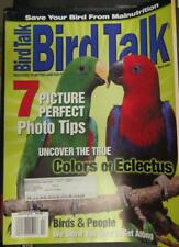 **BIRD TALK MAGAZINE Apr 01 Eclectus Parrot Malnutrition Easy Cage Cleaning
