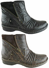 EARTH POPLAR WOMENS/LADIES LEATHER COMFORT ANKLE BOOTS/SHOES/FLATS ON EBAY AUS