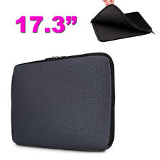 "17.3"" Grey Mesh Nylon Laptop Notebook Sleeve Case Bag"