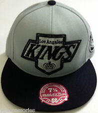 NHL Los Angeles Kings XL Logo Mitchell and Ness Vintage Fitted Cap Hat M&N NEW!