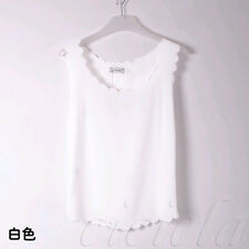 2014 Korean Fashion Womens Slim Chiffon Tops Sleeveless Shirt Casual Blouse Vest
