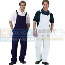 Cotton Drill Bib And Brace Painters Decorators Overalls Coveralls Dungarees Mens