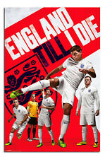 England Team Official Poster Brazil World Cup 2014 New England Till I Die