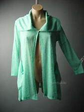 Green Turndown Cutaway Portrait Collar Vtg-y Trapeze Cardigan 69 mv Jacket S M L