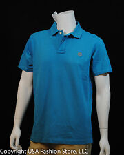 Timberland Men's Polo Basic Turquoise-Gray's Logo NWT