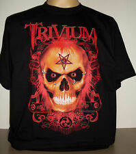 Trivium Pierced Red Skull T-Shirt Size S M L XL 2XL 3XL new! Heavy Metal Band