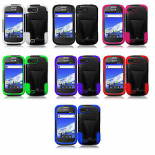 ZTE Valet Z665C T Kick Stand Hybrid Layer Durable 2 in 1 Cell Phone Case Cover