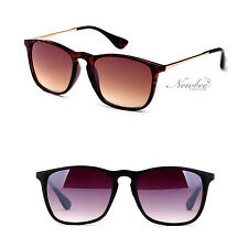 Key Hole Horned Rim Sunglasses Classic Lens Erika Style Vintage Metal Temple