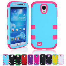FOR SAMSUNG GALAXY S4 I9500 HARD SILICON +PC DUSTPROOF SKIN COVER CASE
