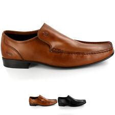 Mens Ikon Morton Formal Smart Wedding Square Toe Leather Loafer Shoes All Sizes
