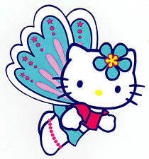 "5-8.5"" HELLO KITTY BUTTERFLY CHARACTER WALL SAFE STICKER BORDER CUT OUT"