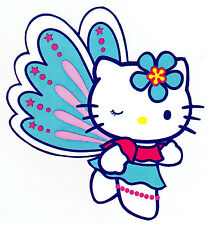 "5-9"" HELLO KITTY BUTTERFLY CHARACTER WALL SAFE STICKER BORDER CUT OUT"