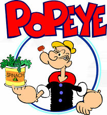 "5-9""  POPEYE THE SAILOR MAN  CHARACTER  WALL SAFE STICKER  BORDER CUT OUT"