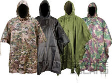 US Style Waterproof Military Poncho Ripstop Basha Lightweight Camping Festival