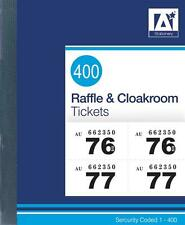 Raffle Cloak Room Tickets 400 Pick Your Colour