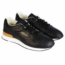 Puma Alexander McQueen AMQ Mens Ruffien II Black Leather Lace Up Sneakers Shoes