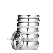 White Tungsten Carbide Wedding Ring Mens Womens 2, 3, 4, 5, 6, 7, 8, 10mm widths