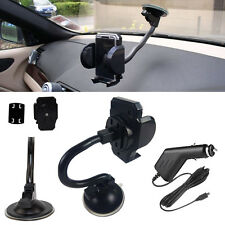 USB Car Charger + Gooseneck Mount Suction Holder For Samsung/Sony/Motorola/Nokia