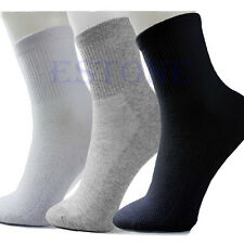 10 Pairs Lot Man Cosy Cotton Sport Socks For Football Basketball 3 Colors HOT