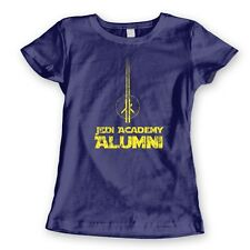 JEDI ALUMNI funny cool nerdy retro space movie costume new WOMENS T-Shirt NAVY
