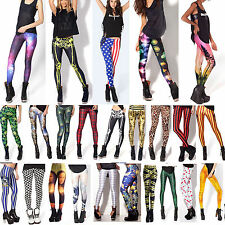 New Women Full Length Stretchy Pencil Tight Pants Ladies Legging Printed Graphic