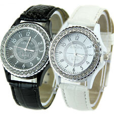 NEW GENEVA CRYSTAL DIAL LADY GIRL WOMEN WRIST WATCH BRACELET QUARTZ CLOCK HOUR C