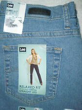 Lee At Waist Relaxed Straight Leg Stretch Denim Womens Blue Jeans Many Sizes New