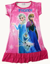 Disney Frozen Elsa Anna Children Kids Party Dress Girls Pajama Skirt 3-10 H Pink
