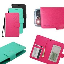 For Blu Flip Slide Up Credit Card ID Holder Wallet Pouch Cover Case Colors ITC