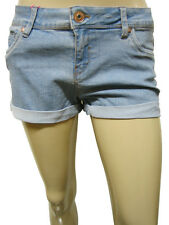 Womens Jennyfer Denim Turn Up Shorts Blue Size 6 to 16 Ladies WST15C12