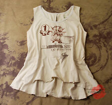 ANTHROPOLOGIE FREE PEOPLE WE THE WOMENS PEPLUM STRETCH KNIT SHIRT TANK TOP XS S