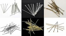 100 Head Pins Jewellery Making Findings Choice of size & colour BUY 4 GET 1 FREE