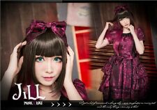 lolita fairy GOTH Princess diary Scent of woman tiered DOLLY dress HA133 PU