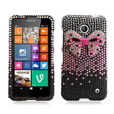 Nokia Lumia 635 Crystal Diamond BLING Hard Case Phone Cover + Screen Protector