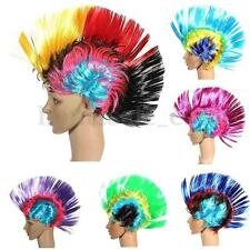 MultiColor Mohawk Hair Wig Rainbow Color Costume Punk Rock Style Halloween Party