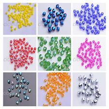 Wholesale 200 Glass Crystal Jewelry Diy Findings Bicone Loose Faceted Beads 4mm
