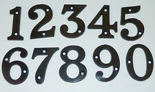 BLACK PLASTIC DOOR NUMBERS 1,3,4,5,6,7,8,9,0 + B,C ON ONE LISTING