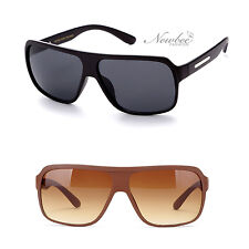 New Flat Top Sunglasses Grand Prix Squared Lens Flat Color Finish Men