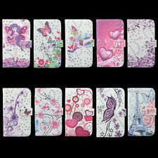 Bling Leather Flip Wallet Card Slot Case Cover For Samsung Galaxy S3 SIII i9300