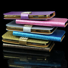 Stand Flip Leather Wallet Case Cover Smart Wake For Samsung Galaxy S4 i9500